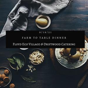 Farm to Table Dinner Post Option #1
